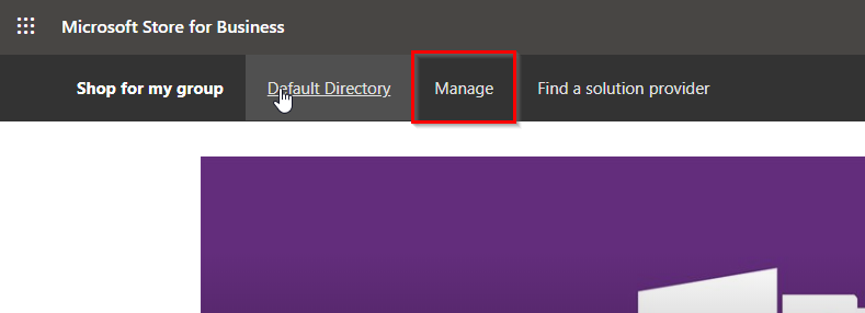Manage for Microsoft Store for Business