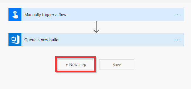 New step in flow DevOps build