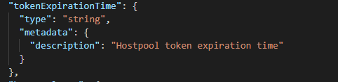 Token expiration time parameter.