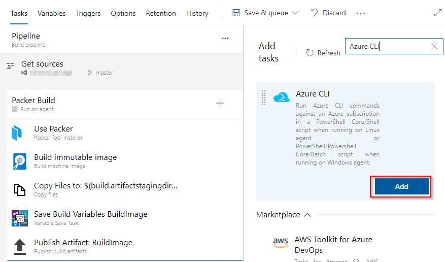 Add Azure CLI Tasks