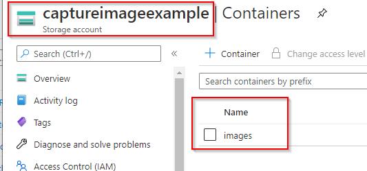 Storage Account to store managed disks snapshot
