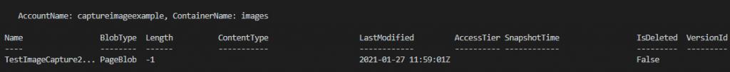 Upload output for managed disk snapshot upload