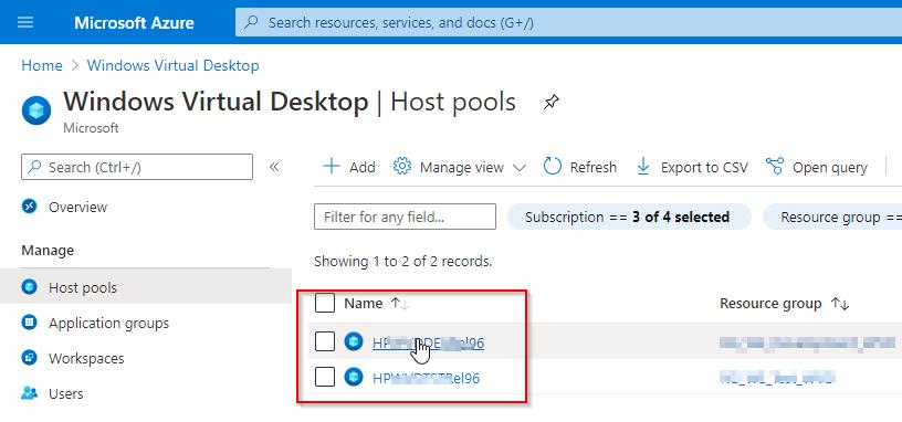 Windows Virtual Desktop Hostpool registration key