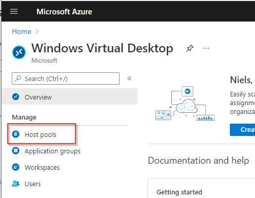 Create WVD Hostpool portal add twice
