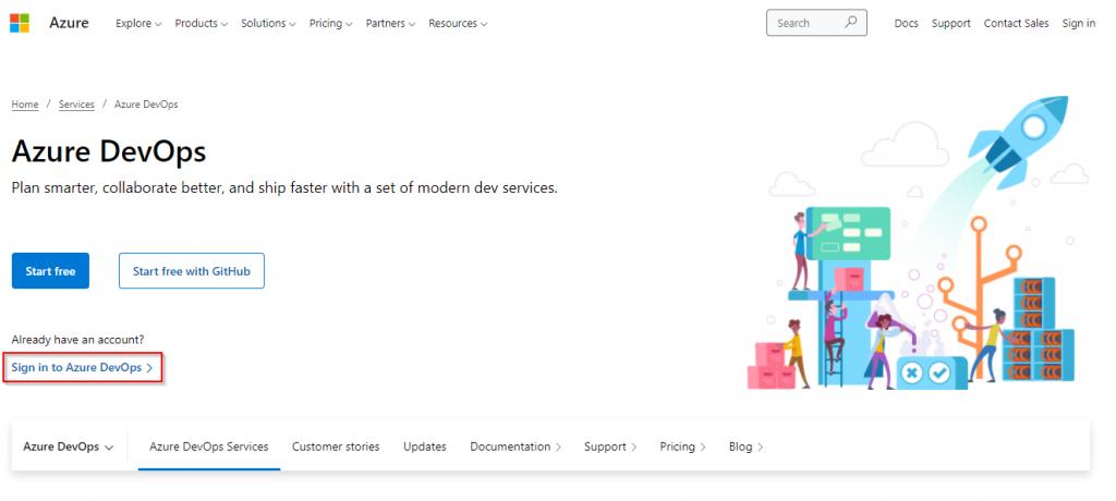 Windows 10 Image Series - Part 0 - Sign in to Azure DevOps