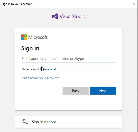 Windows 10 Image Series - Part 0 - Git VS Code login prompt