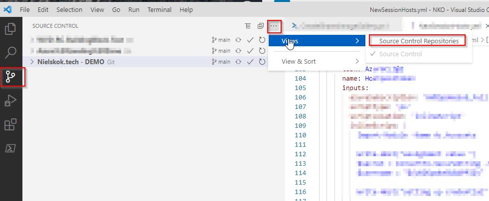 Windows 10 Image Series - Part 0 - Git VS Code repositry view