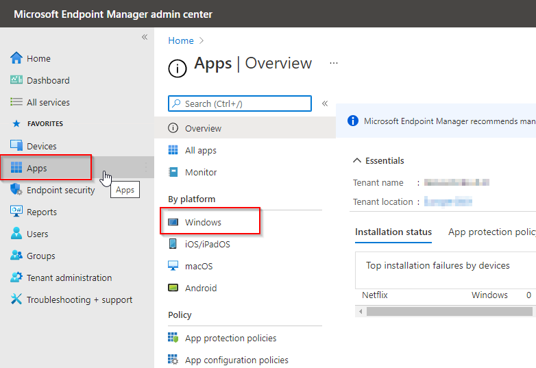 Deploy Single Microsoft Store App via Intune - Windows Apps