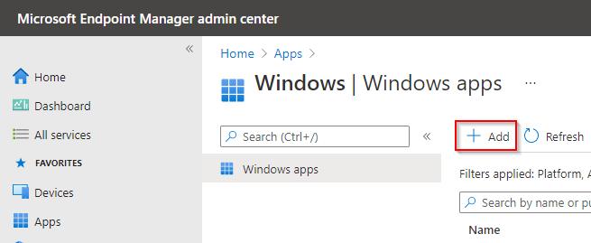 Deploy Single Microsoft Store App via Intune - Windows Apps add