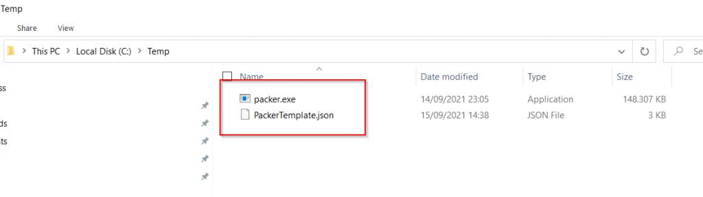 Convert Packer JSON File to HCL2 - Packer files